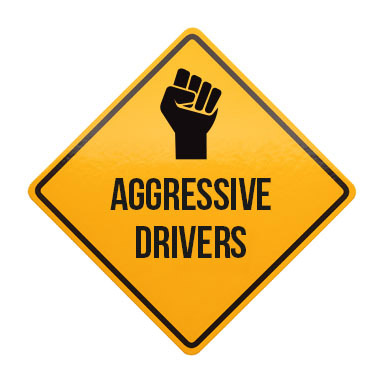 Defensive driving course details include aggressive drivers.