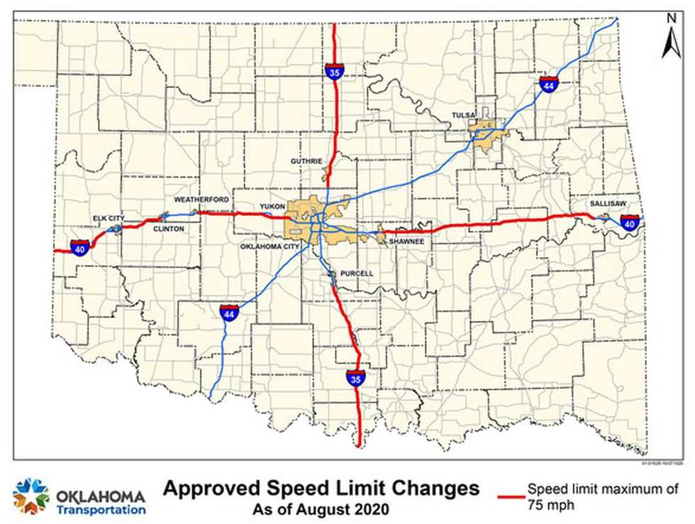 speed limit changes in oklahoma